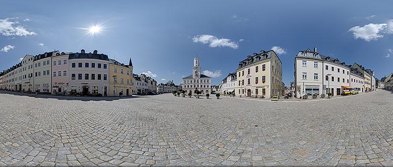 360° Panorama Marktplatz Schneeberg