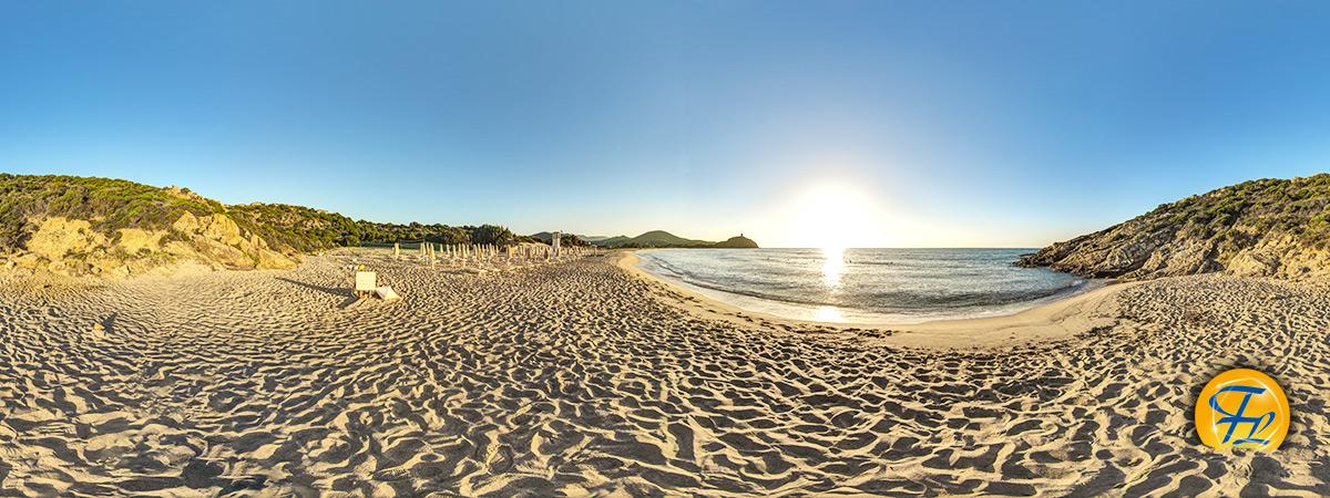 360&deg Panorama Strand Sardinien